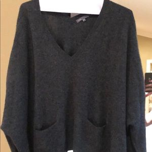 Vince cropped grey cashmere sweater